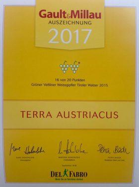 Auszeichnung Gault Millau 2017